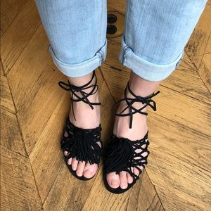 Schutz Marriet sandals Black Nubuck